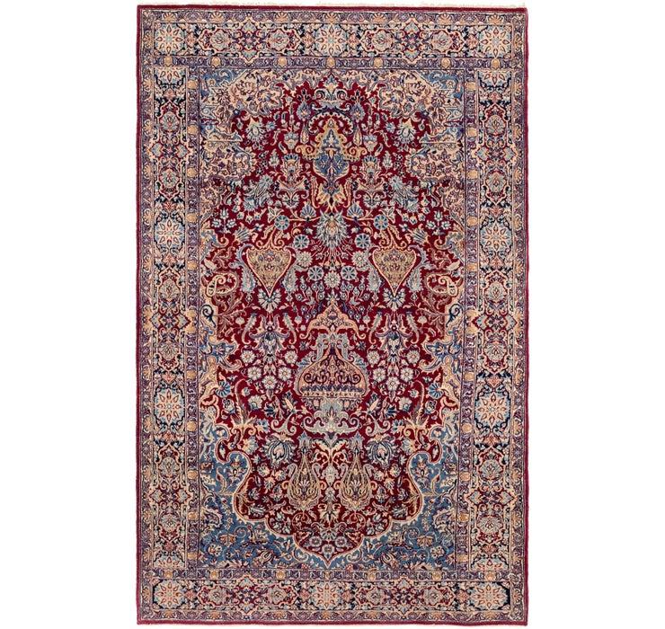 Image of 140cm x 225cm Kerman Persian Rug