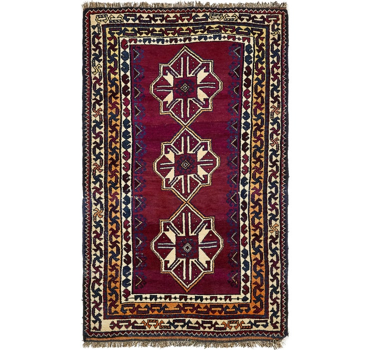 4' 3 x 7' Shiraz Persian Rug