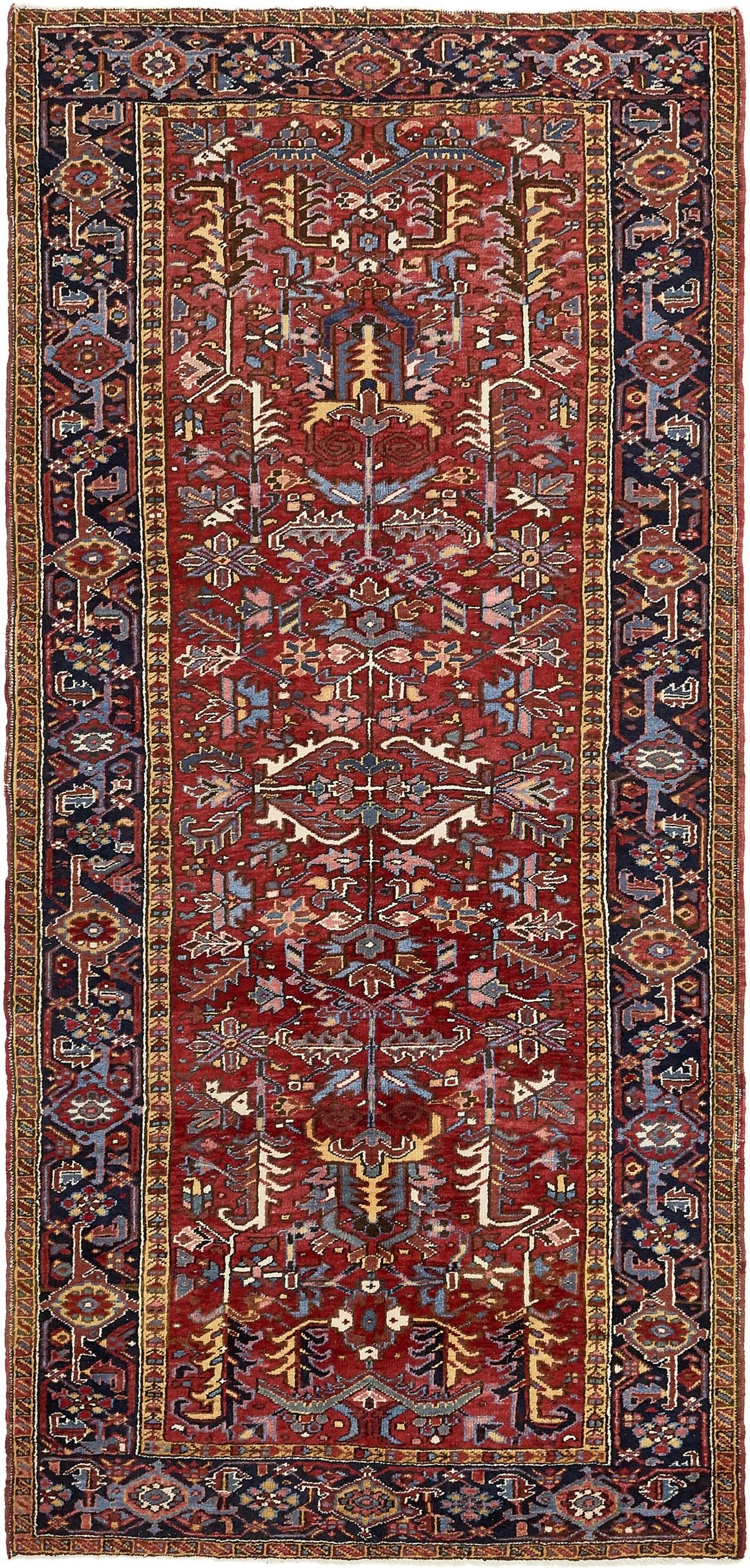 5' 4 x 11' 3 Heriz Persian Runner Rug main image