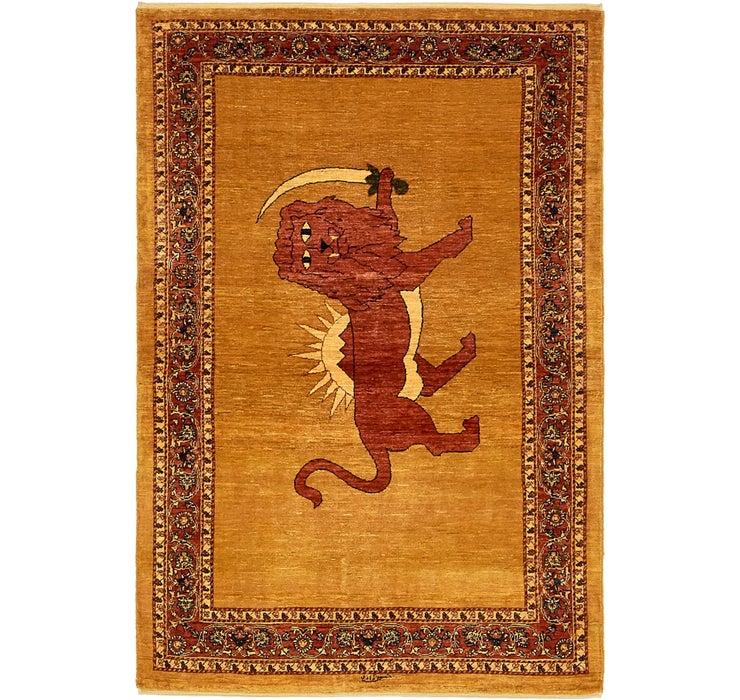 110cm x 168cm Ghashghaei Persian Rug