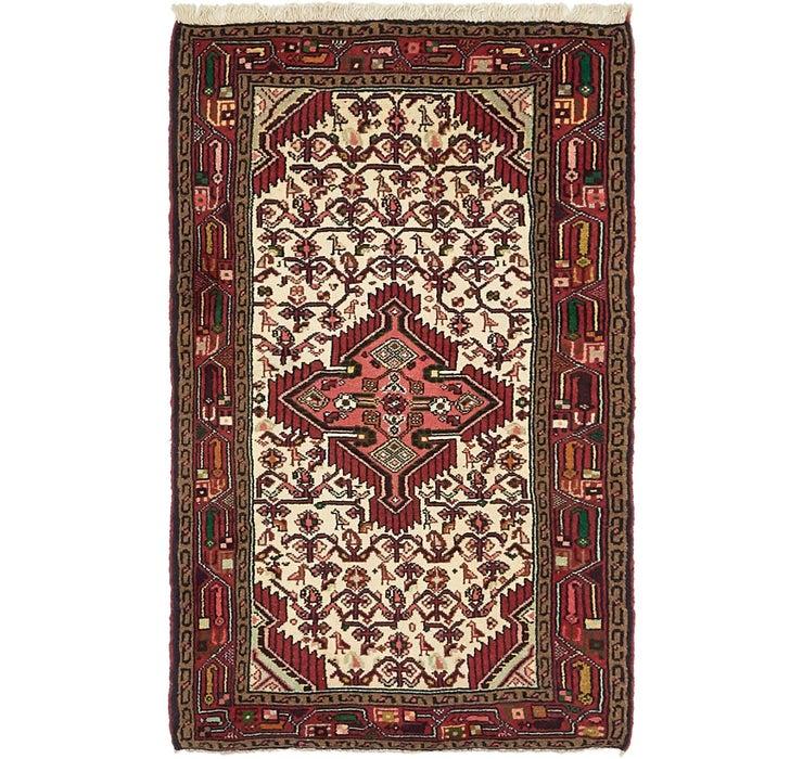 80cm x 132cm Mazlaghan Persian Rug