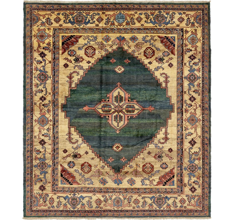 Image of 13' 7 x 15' 5 Heriz Persian Rug
