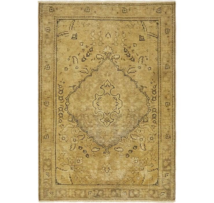 3' 4 x 4' 9 Ultra Vintage Persian Rug