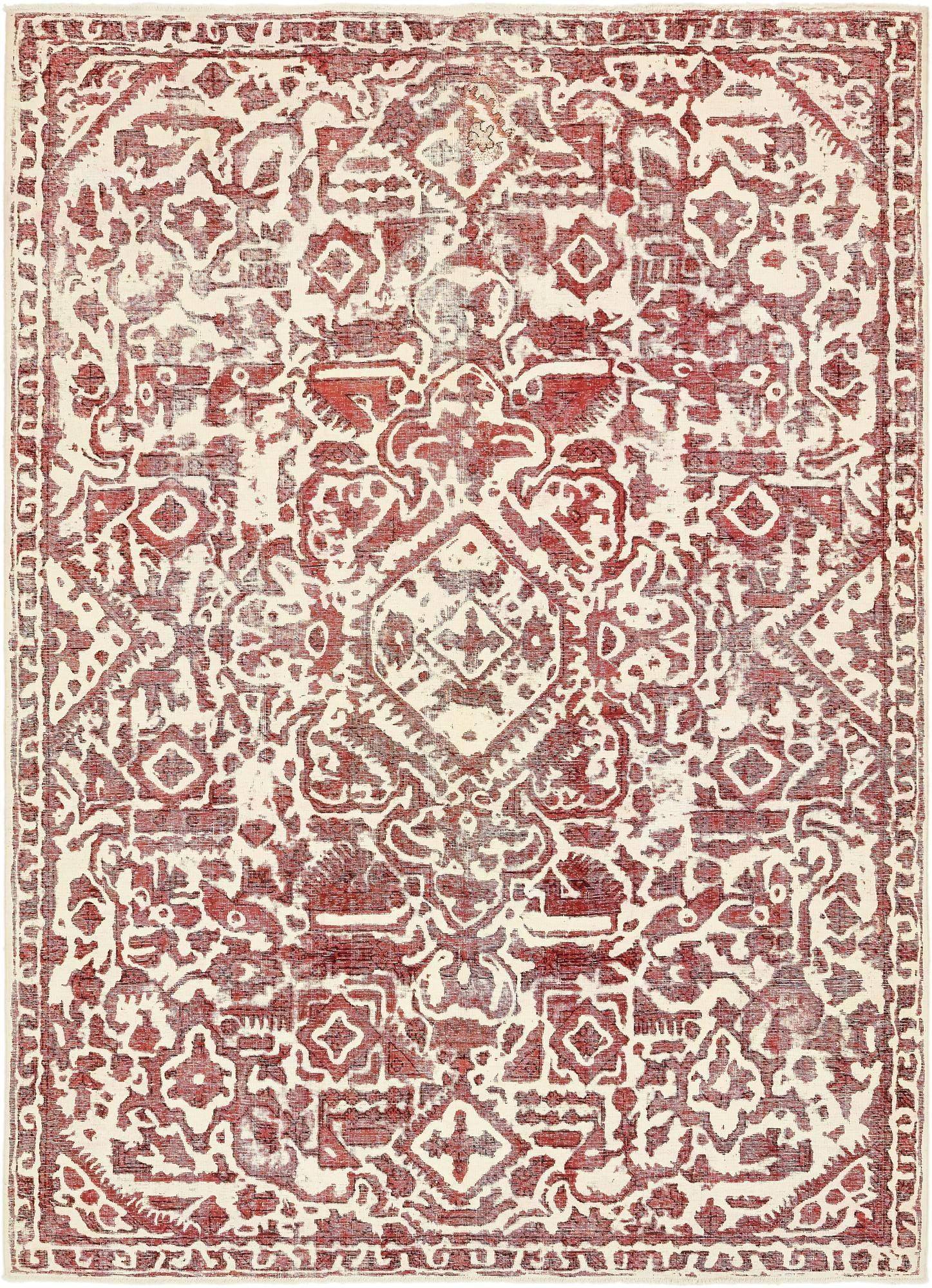 Ivory 7 10 X 10 9 Ultra Vintage Persian Rug Irugs Uk
