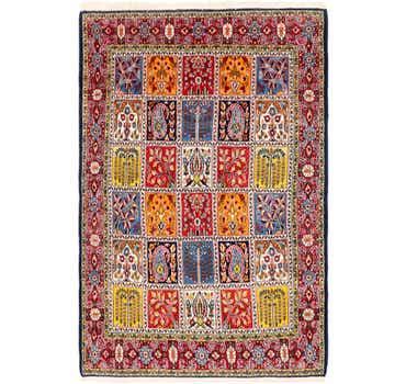 Image of 4' 5 x 6' 9 Qom Persian Rug