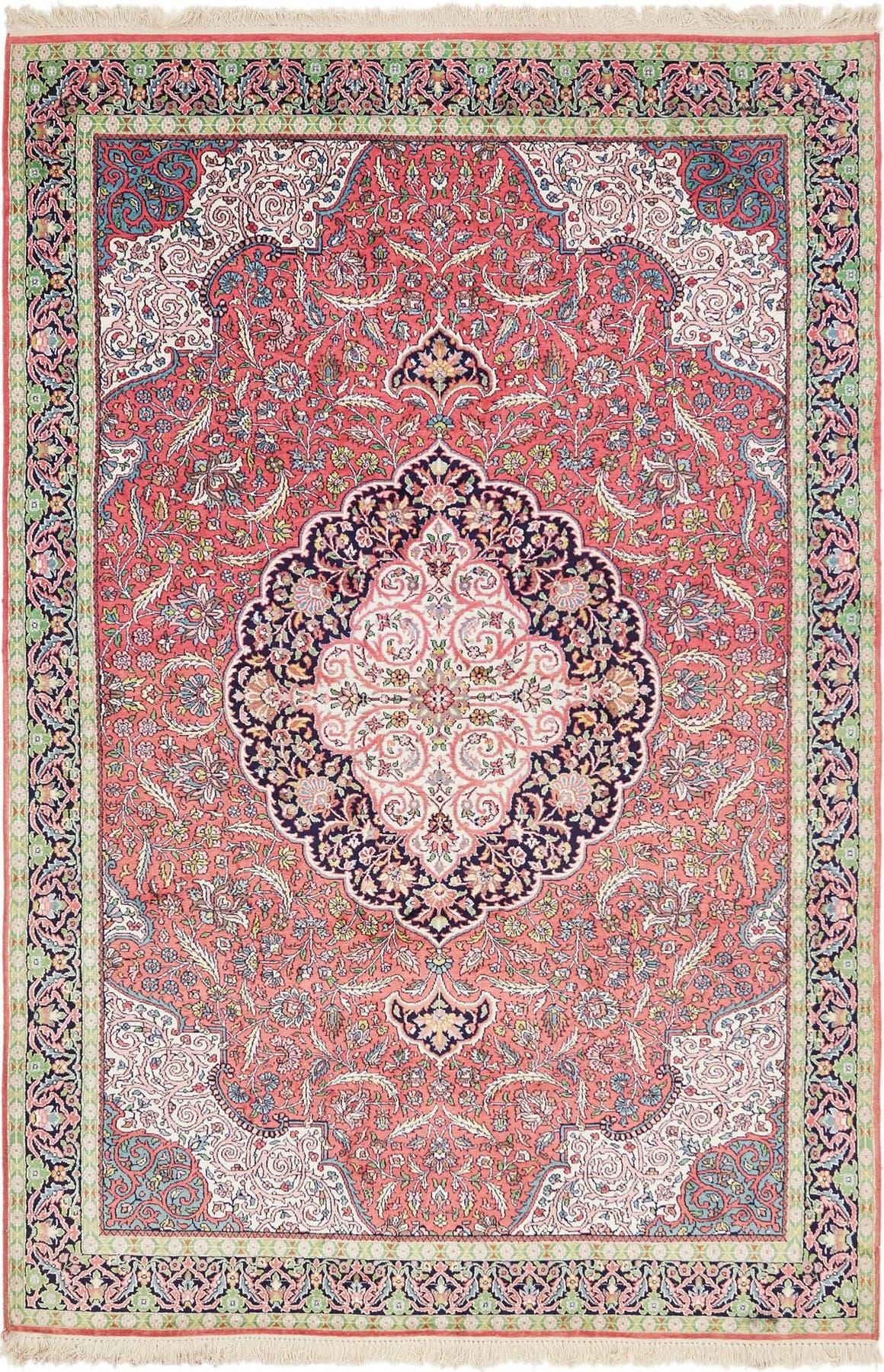 6' x 9' 5 Kashmir Oriental Rug main image