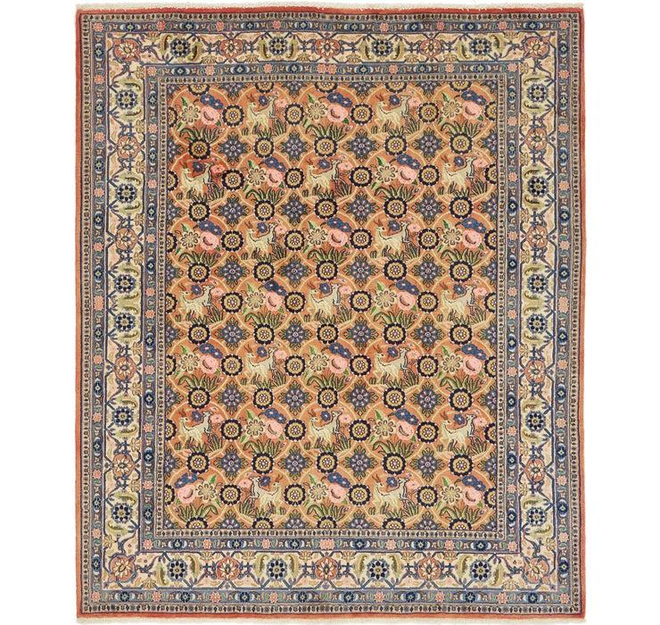 Image of 203cm x 245cm Varamin Persian Rug