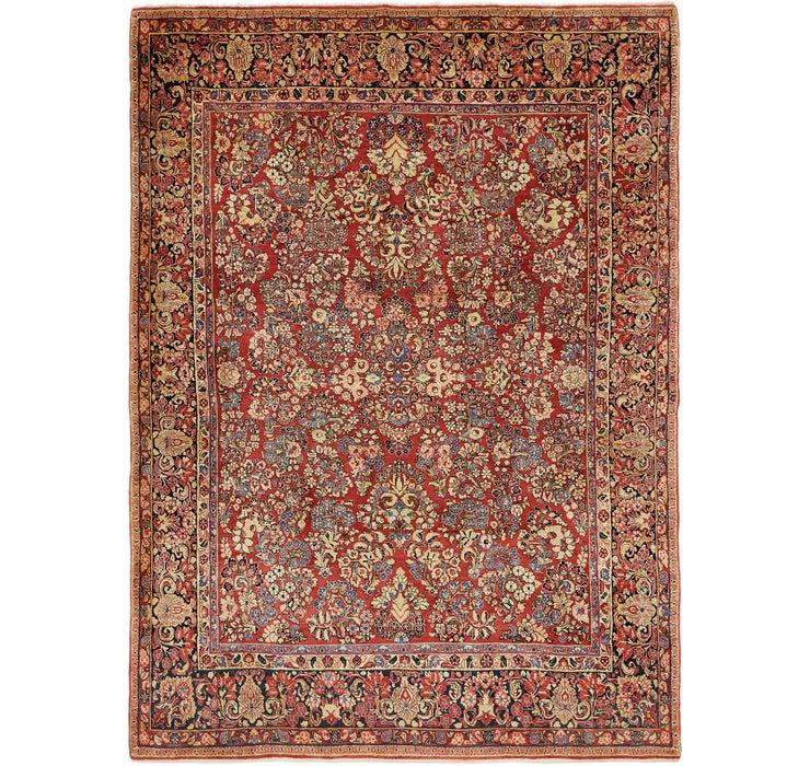 8' 9 x 12' Sarough Persian Rug