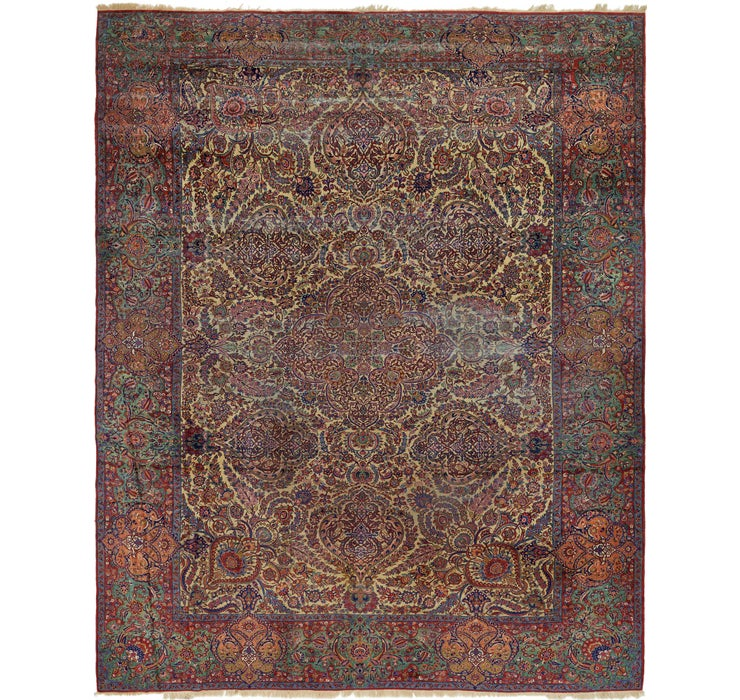 390cm x 495cm Sarough Persian Rug