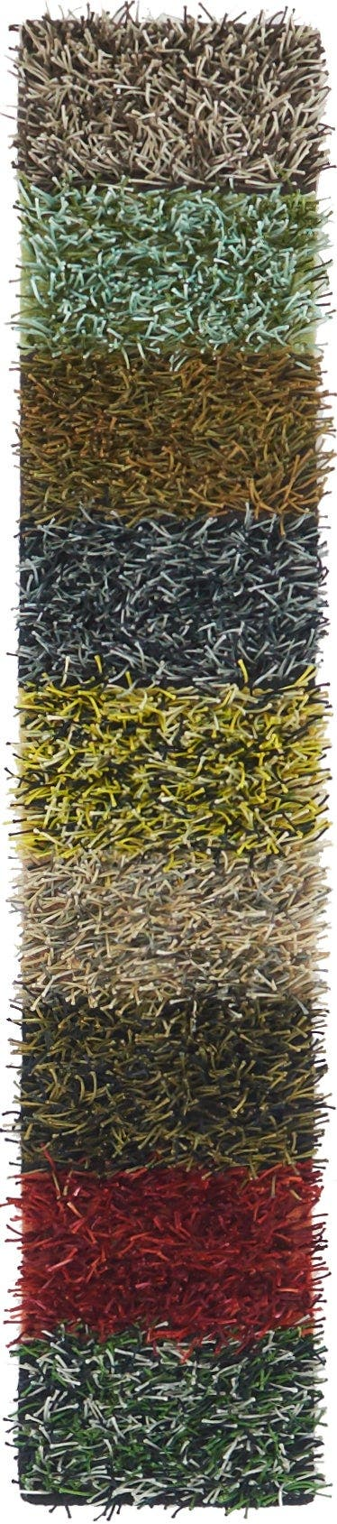 1' x 4' 10 Textured Shag Runner Rug main image