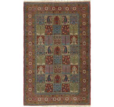 4' 8 x 7' 4 Qom Persian Rug