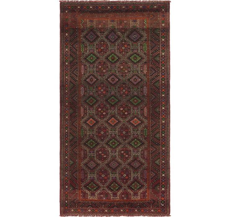 4' 9 x 9' 8 Shiraz Persian Runner Rug