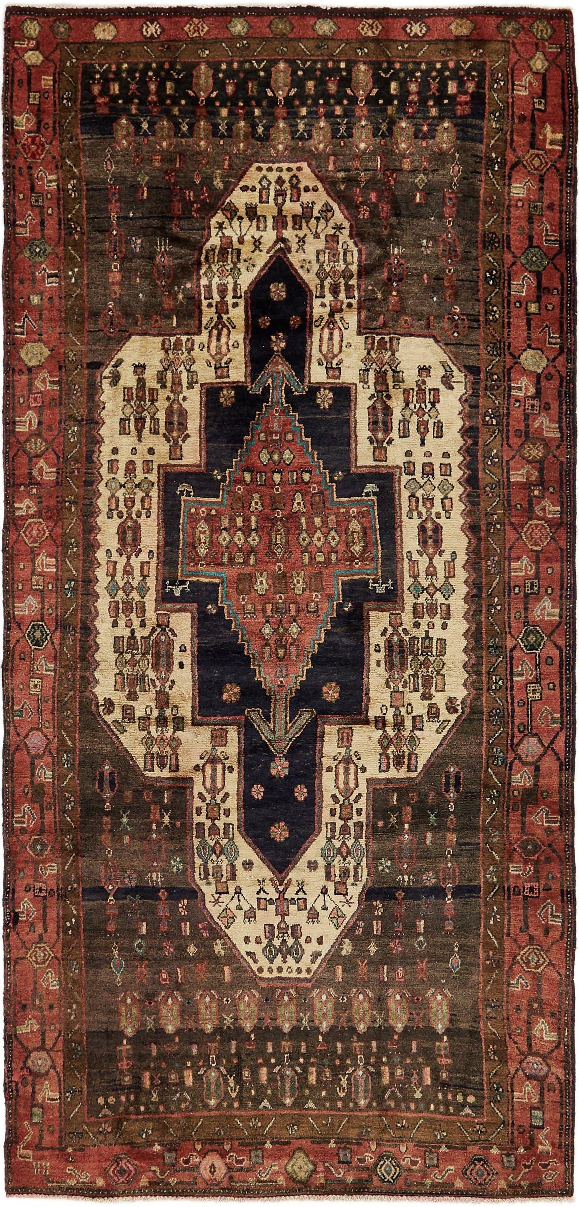 4' 3 x 9' 4 Meshkin Persian Runner Rug main image