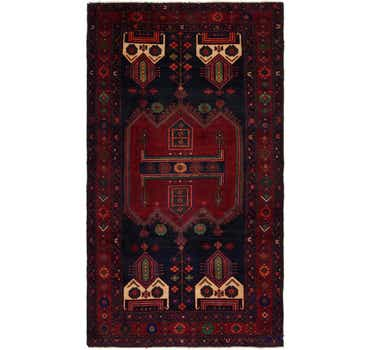 Image of 4' 9 x 9' Sirjan Persian Runner Rug