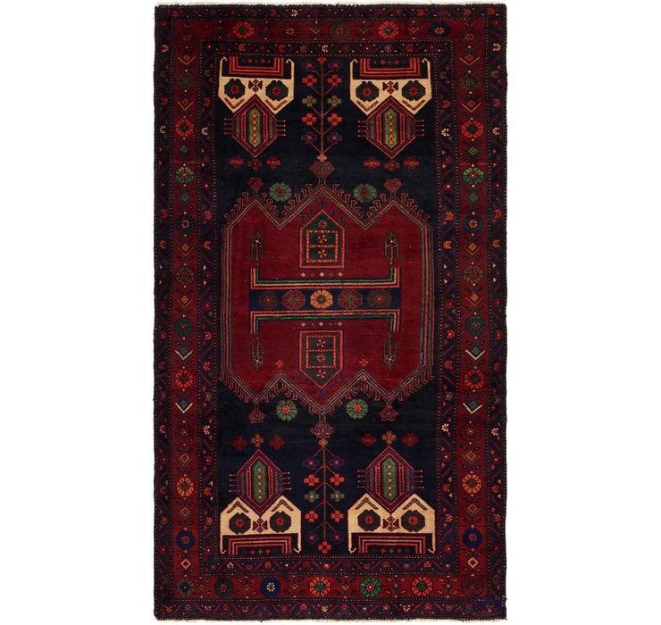 Image of 4' 9 x 9' Sirjan Persian Runner Rug