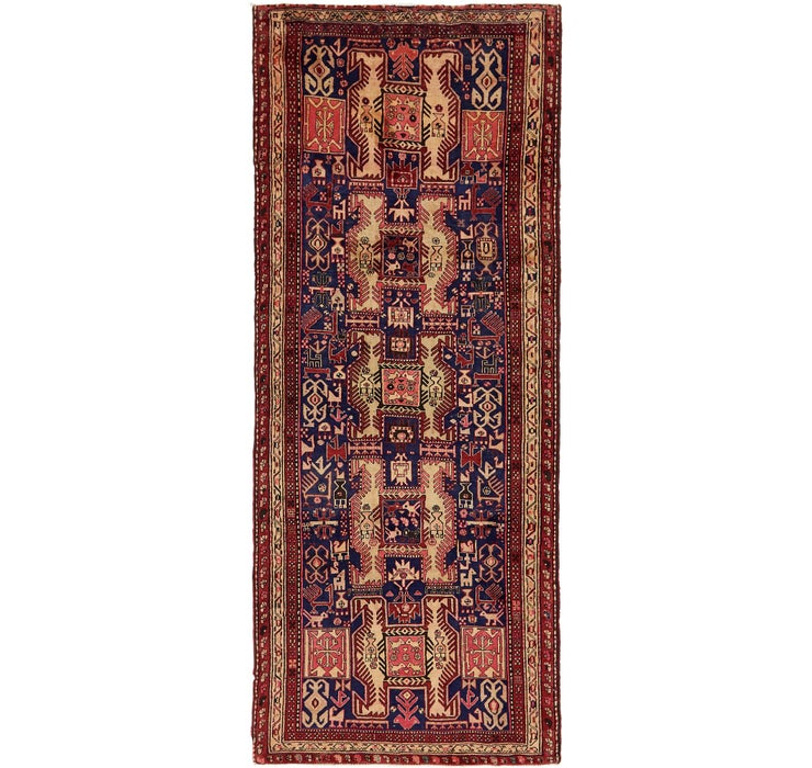 Image of 130cm x 325cm Meshkin Persian Runner ...