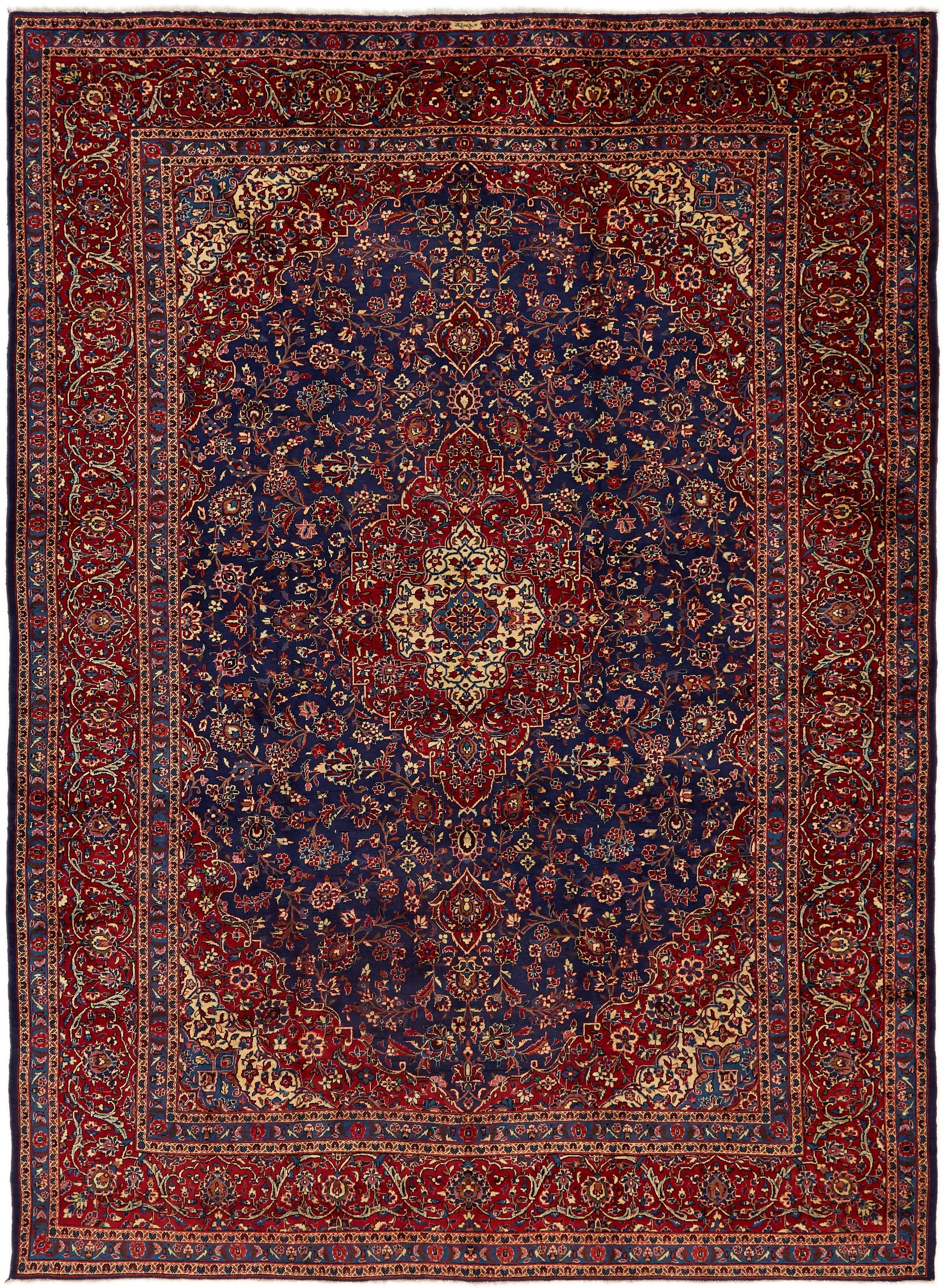 Picture of: Navy Blue 10 X 13 7 Mashad Persian Rug Esalerugs
