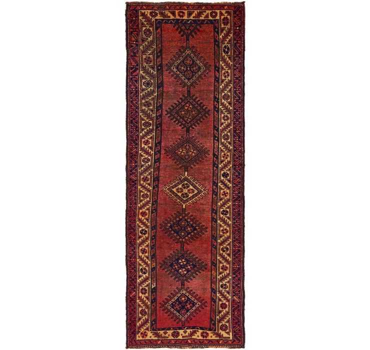 3' 8 x 10' 10 Shiraz Persian Runner Rug