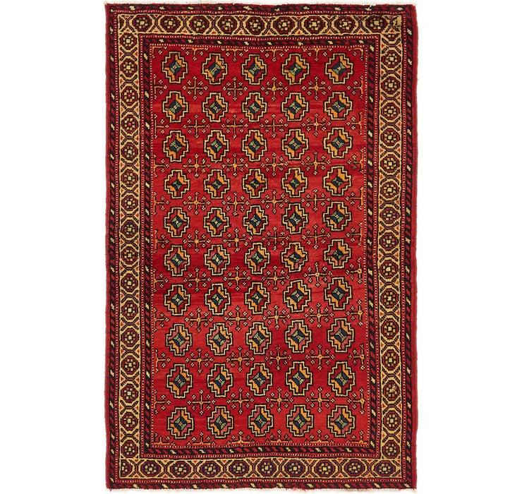 3' 4 x 6' 3 Hamedan Persian Rug