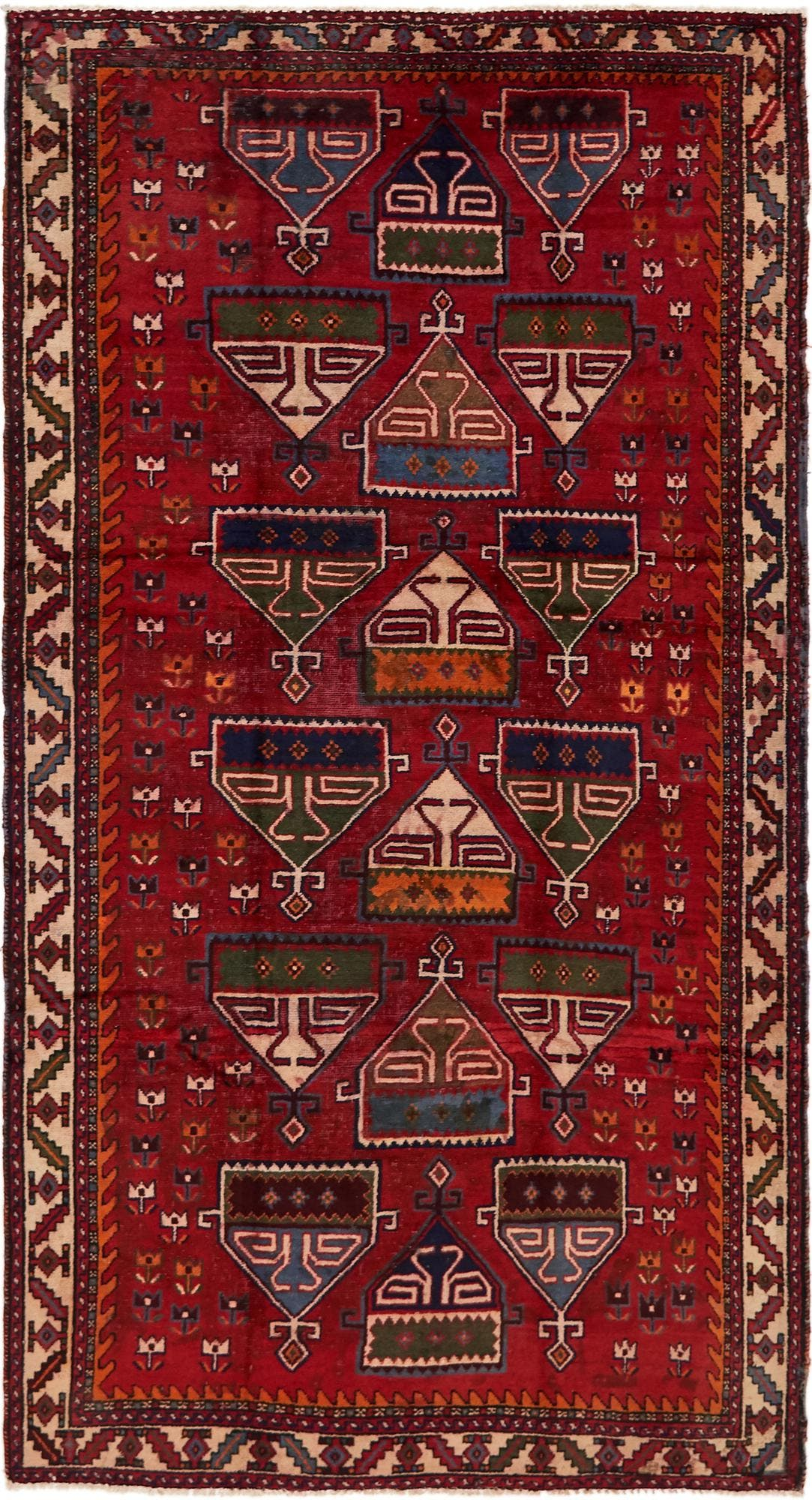 5' 4 x 9' 10 Shiraz Persian Rug main image