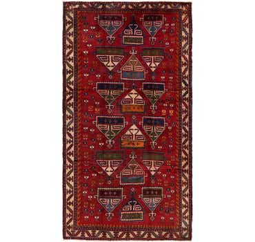 Image of 5' 4 x 9' 10 Shiraz Persian Rug