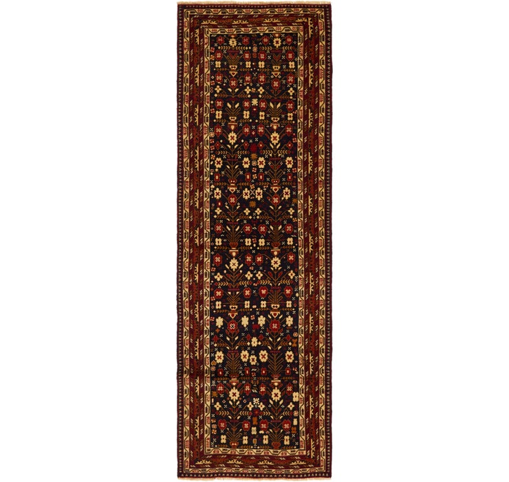 3' x 9' 6 Ghoochan Persian Runner...