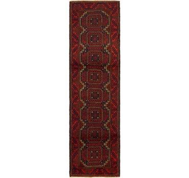 2' 7 x 9' 4 Balouch Persian Runner Rug main image