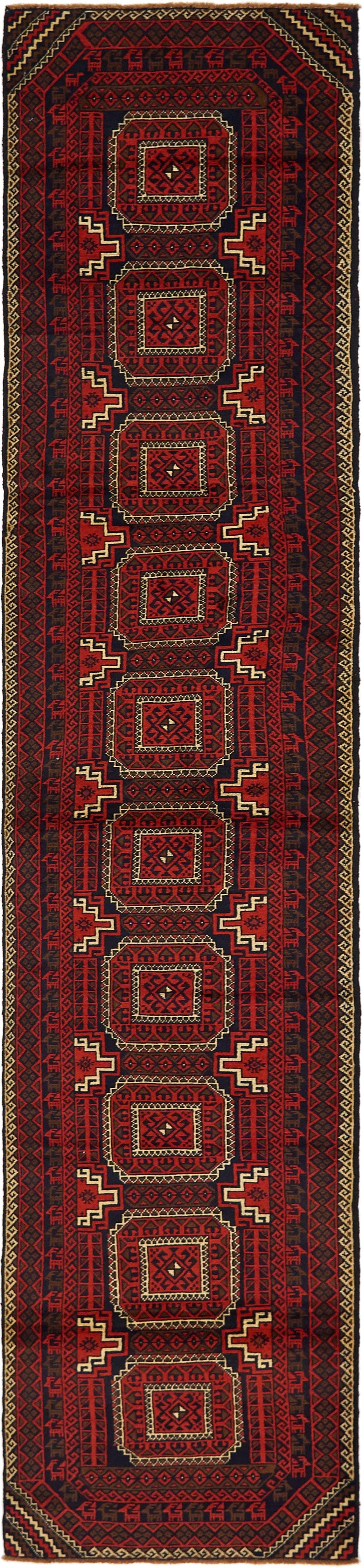 2' 7 x 12' 4 Balouch Persian Runner Rug main image