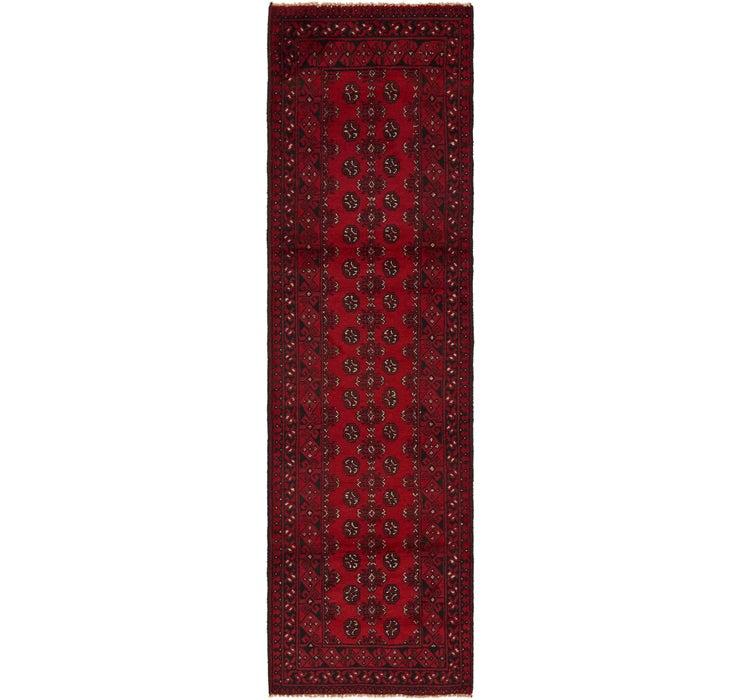 2' 9 x 9' 4 Afghan Akhche Runner Rug