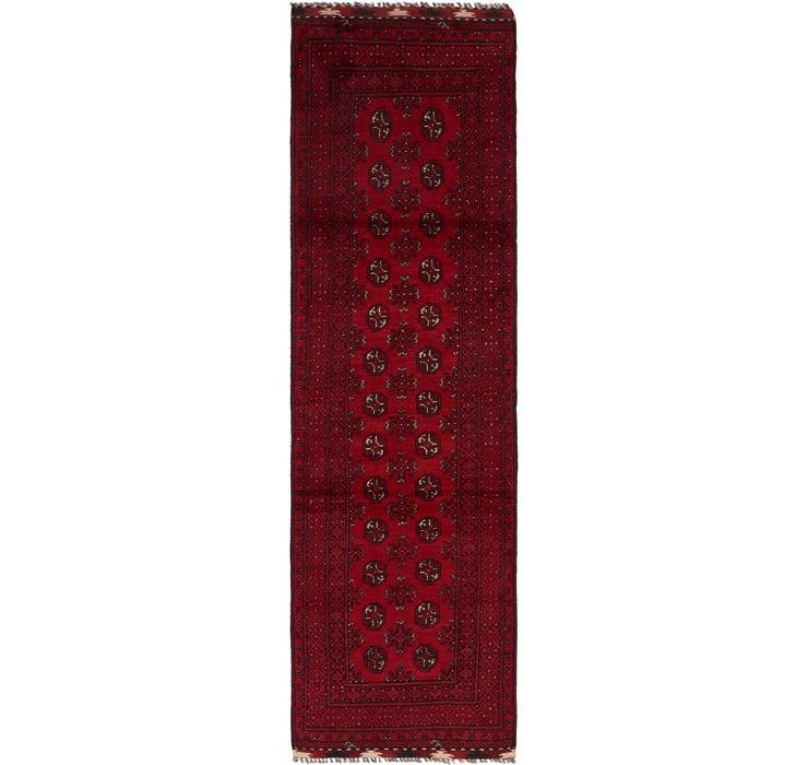 2' 8 x 9' 5 Afghan Akhche Runner Rug
