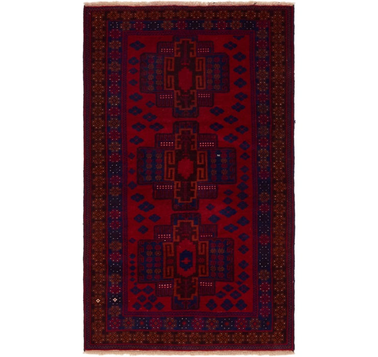 3' 7 x 6' 5 Balouch Persian Rug