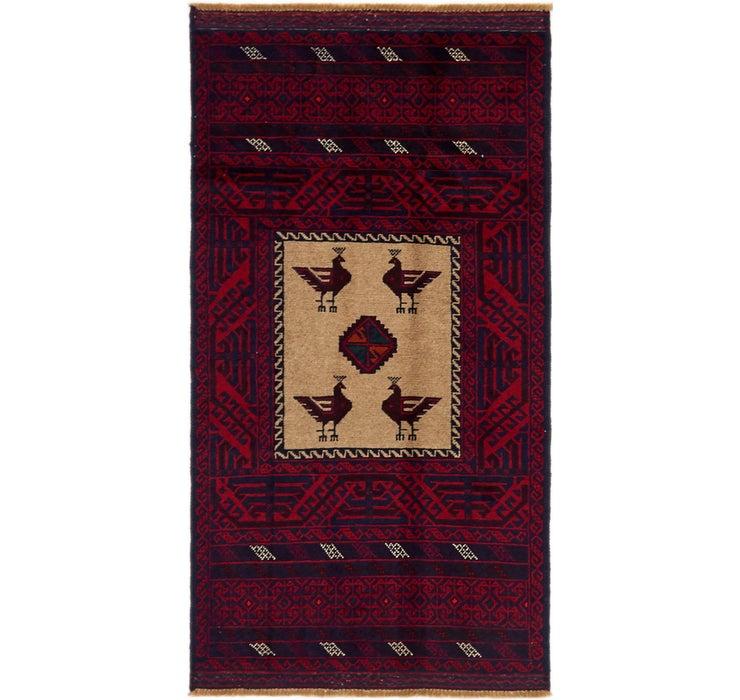 85cm x 170cm Balouch Persian Rug