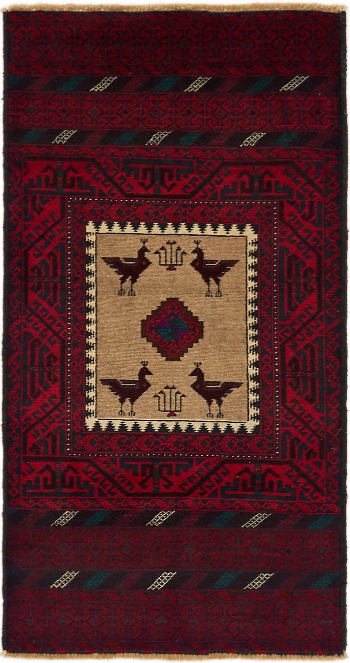 3' x 5' 9 Balouch Persian Rug main image