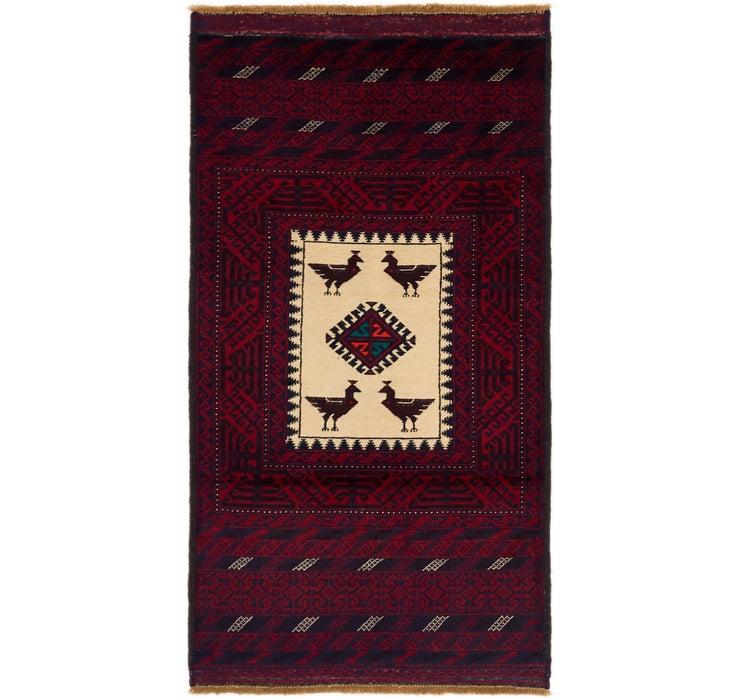3' x 5' 7 Balouch Persian Rug