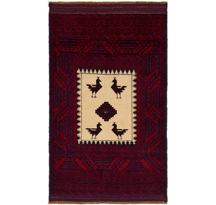 90cm x 155cm Balouch Persian Rug