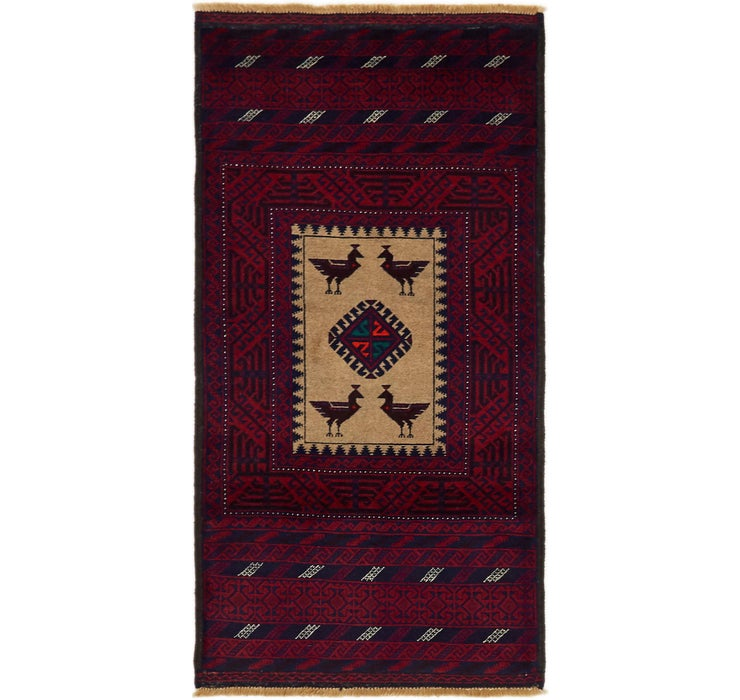 2' 10 x 5' 8 Balouch Persian Rug