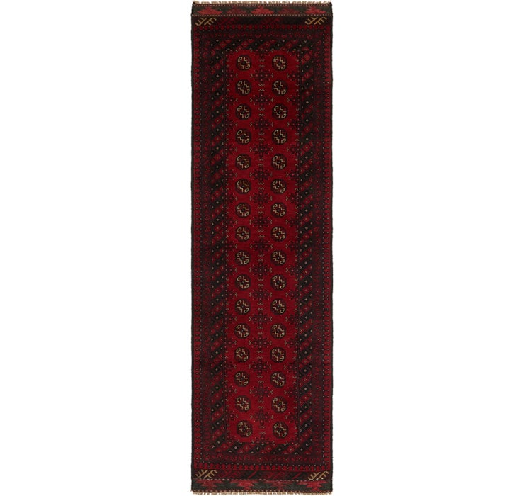 2' 8 x 9' 9 Afghan Akhche Runner Rug
