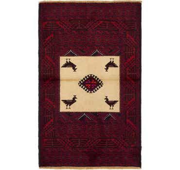 Image of 3' x 5' Balouch Persian Rug