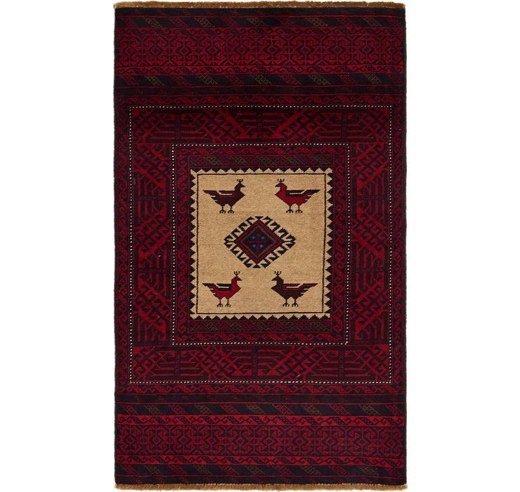90cm x 157cm Balouch Persian Rug