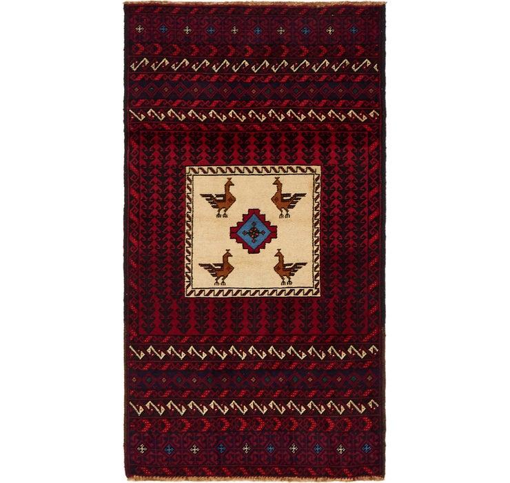 85cm x 160cm Balouch Persian Rug
