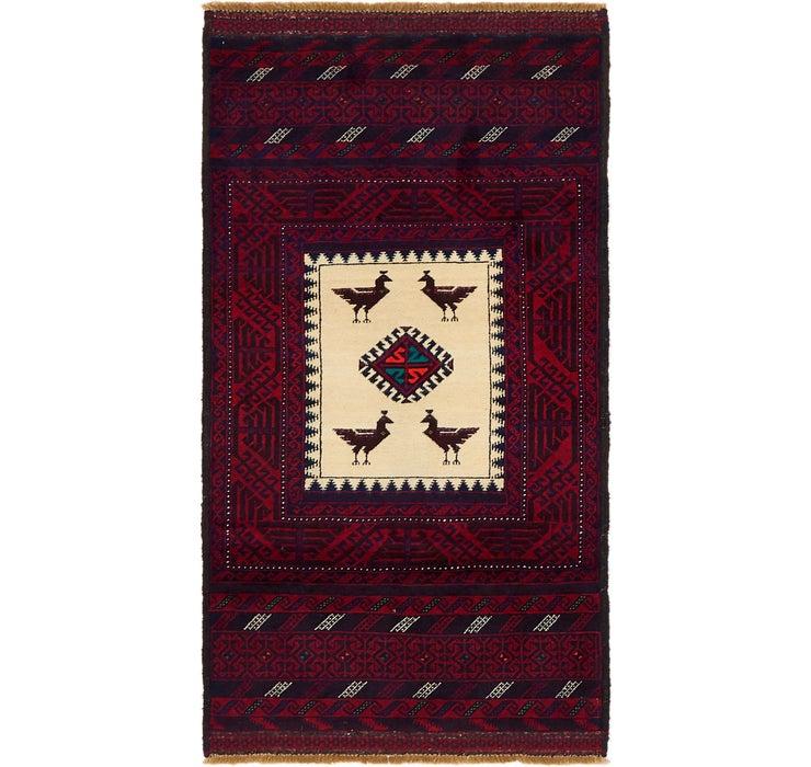 85cm x 163cm Balouch Persian Rug