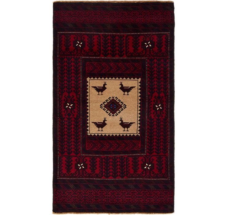 90cm x 163cm Balouch Persian Rug