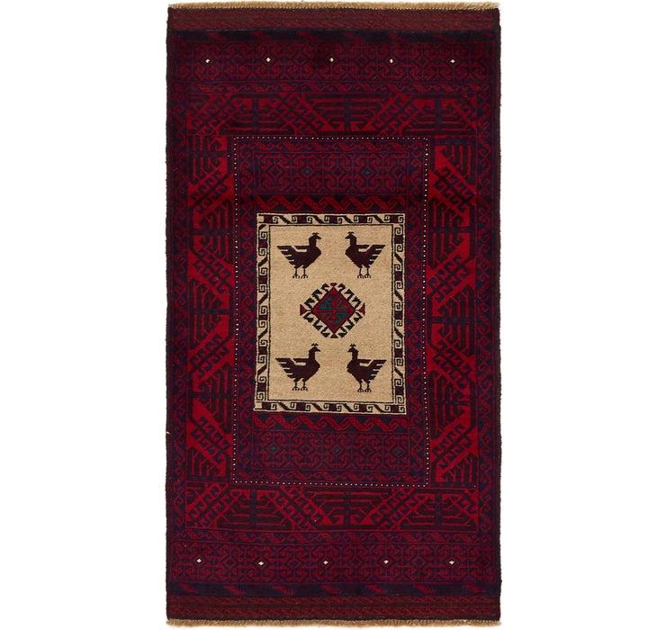 90cm x 170cm Balouch Persian Rug