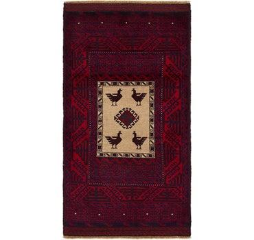 3' x 5' 7 Balouch Persian Rug main image