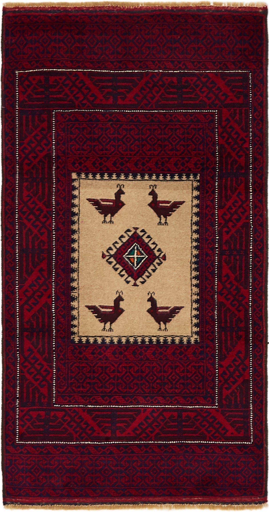 3' x 5' 6 Balouch Persian Rug main image