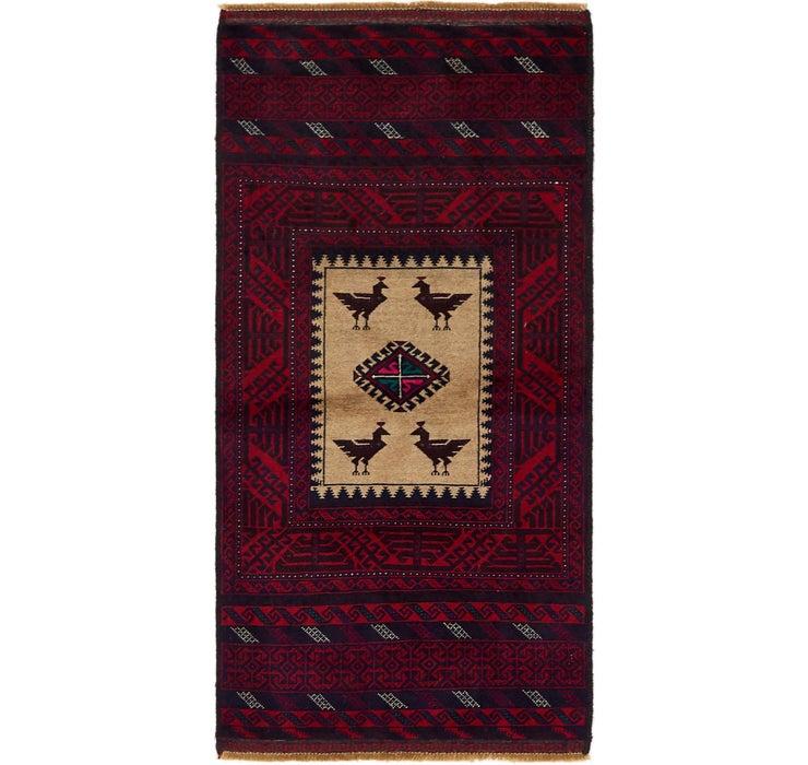 85cm x 168cm Balouch Persian Rug