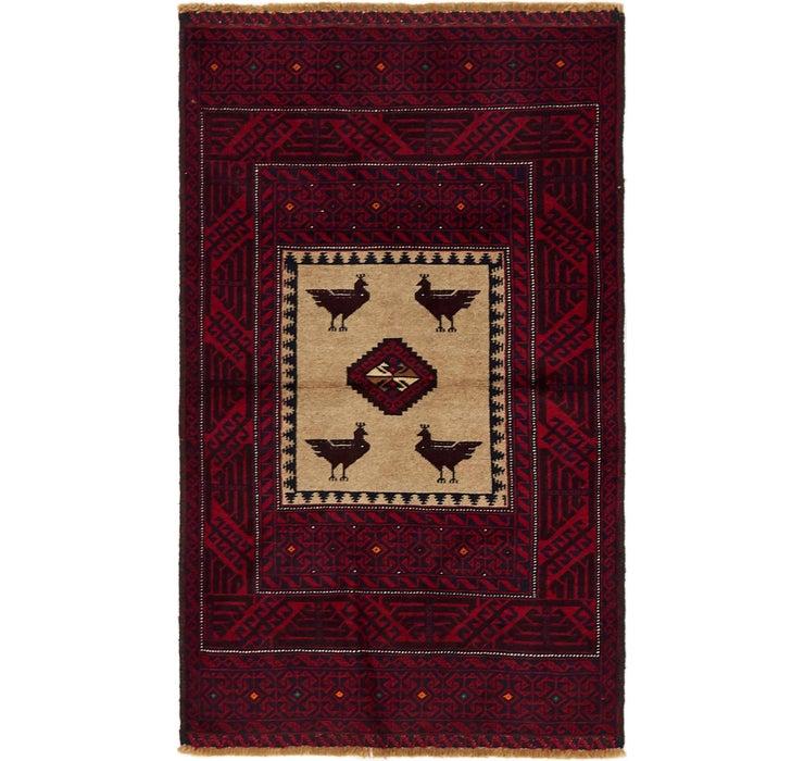 90cm x 152cm Balouch Persian Rug
