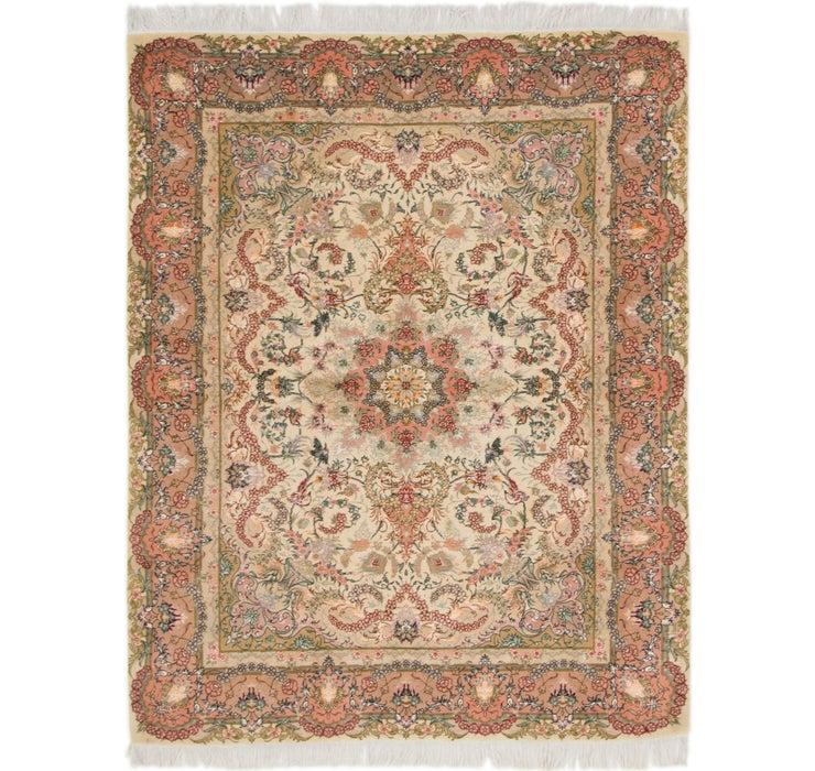5' x 6' 3 Tabriz Persian Square Rug