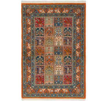 Image of 3' 3 x 5' Qom Persian Rug