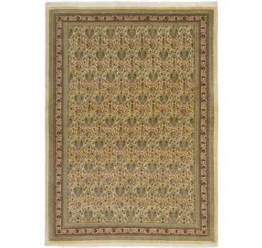 Image of 4' 8 x 6' 5 Qom Persian Rug